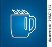 cup  mug  of hot drink  coffee  ... | Shutterstock .eps vector #645274942