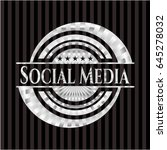 social media silver emblem or... | Shutterstock .eps vector #645278032