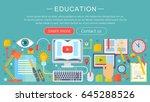 set of flat design concept... | Shutterstock . vector #645288526