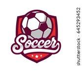 soccer logos  american logo... | Shutterstock .eps vector #645293452
