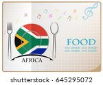 food logo made from the flag of ... | Shutterstock .eps vector #645295072