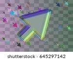 arrow elements icon | Shutterstock .eps vector #645297142