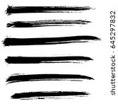 ink vector brush strokes set.... | Shutterstock .eps vector #645297832