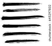 ink vector brush strokes set.... | Shutterstock .eps vector #645297832