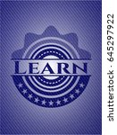 learn badge with denim... | Shutterstock .eps vector #645297922