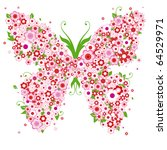 abstract floral background with ... | Shutterstock .eps vector #64529971