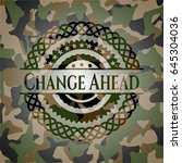 change ahead on camouflage... | Shutterstock .eps vector #645304036