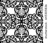 seamless abstract ornate pattern | Shutterstock .eps vector #645305836