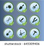 icons  gardening tools ...