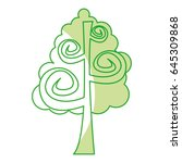 tree plant drawing icon | Shutterstock .eps vector #645309868