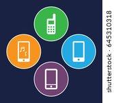 communicator icons set. set of... | Shutterstock .eps vector #645310318