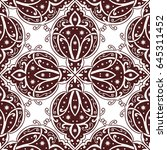 seamless abstract ornate pattern | Shutterstock .eps vector #645311452