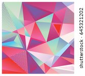 vector of triangle geometric 3d ... | Shutterstock .eps vector #645321202