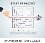 business concept backgroind. 3d ... | Shutterstock .eps vector #645322336