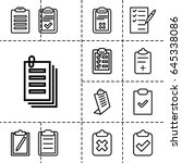 clipboard icon. set of 13... | Shutterstock .eps vector #645338086