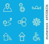 navigation icons set. set of 9... | Shutterstock .eps vector #645338236