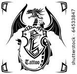 black dragon a tattoo | Shutterstock .eps vector #64533847