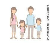 light color caricature faceless ... | Shutterstock .eps vector #645338896