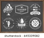 set of gelato ice cream badges... | Shutterstock .eps vector #645339082