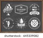 set of gelato ice cream badges... | Shutterstock .eps vector #645339082