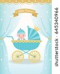 illustration vector of baby boy ... | Shutterstock .eps vector #645340966