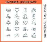social network icons set.... | Shutterstock .eps vector #645344506