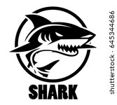 shark icon | Shutterstock .eps vector #645344686