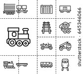 train icon. set of 13 outline...   Shutterstock .eps vector #645346066
