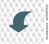 arrow vector flat pictograph... | Shutterstock .eps vector #645349312