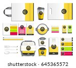 realistic packaging for food.... | Shutterstock .eps vector #645365572