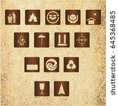 set of modern icons | Shutterstock .eps vector #645368485
