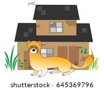 the skunk which appears in the... | Shutterstock .eps vector #645369796