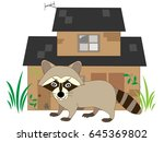 the raccoon which appears in... | Shutterstock .eps vector #645369802