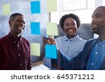 three casually dressed african... | Shutterstock . vector #645371212