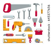 hardware industrial tools kit... | Shutterstock .eps vector #645377656