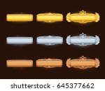 bronze  silver and golden... | Shutterstock .eps vector #645377662