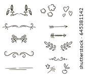 vector graphic set ... | Shutterstock .eps vector #645381142