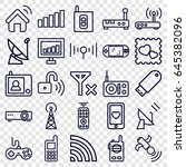 wireless icons set. set of 25... | Shutterstock .eps vector #645382096