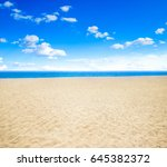 sea and beach background with... | Shutterstock . vector #645382372