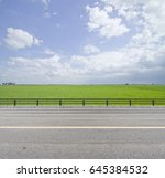 roadside view and green grass... | Shutterstock . vector #645384532
