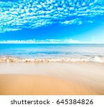 sea and beach background with... | Shutterstock . vector #645384826