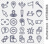 point icons set. set of 25... | Shutterstock .eps vector #645386866