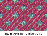 multicolor ornament of small... | Shutterstock . vector #645387346
