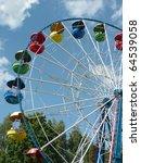 Ferris Wheel At Dry Sunny...