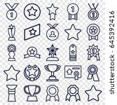 best icons set. set of 25 best... | Shutterstock .eps vector #645392416