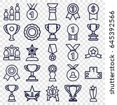 trophy icons set. set of 25... | Shutterstock .eps vector #645392566