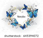 jeweled  golden heart with blue ... | Shutterstock .eps vector #645394072