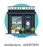flower shop. facade of an...