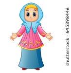 vector illustration of muslim... | Shutterstock .eps vector #645398446