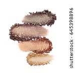 crushed eyeshadow isolated on...   Shutterstock . vector #645398896